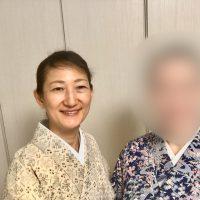 お母様から譲られた着物を着てみた~神楽坂駅の階段を昇る